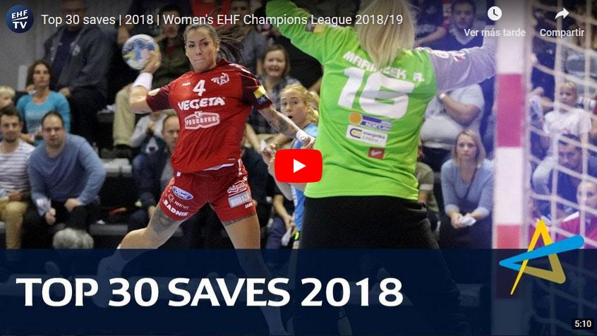 Women´s Champions League: Top 30 paradas 2018