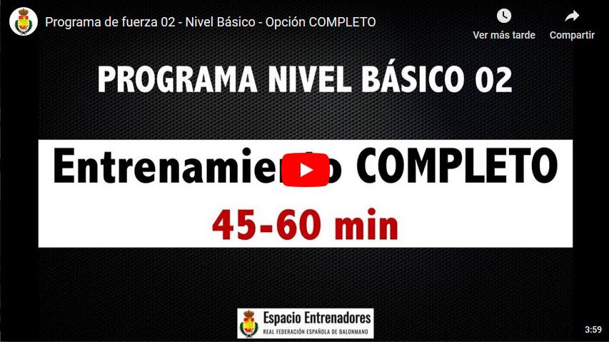 Enternamiento: Programa de fuerza 02 – Nivel Básico (Completo)