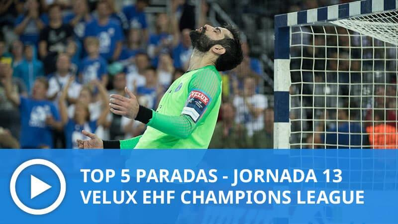 top 5 paradas champions league balonmano