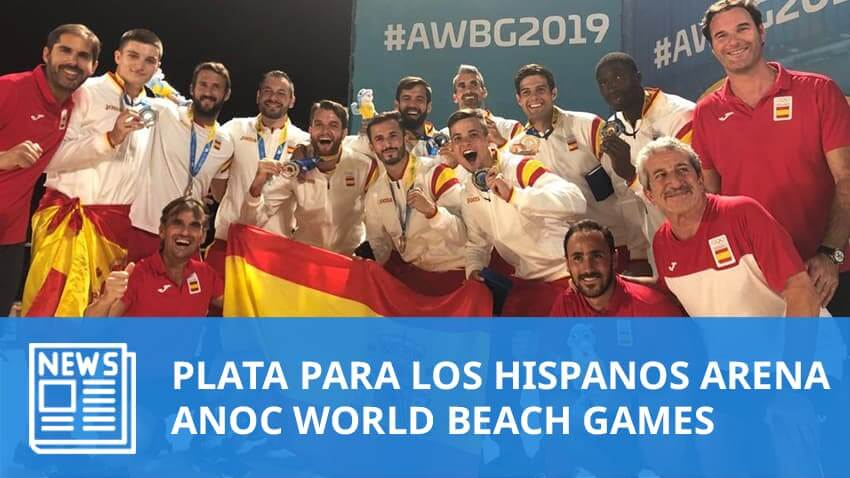 ANOC World Beach Games: Medalla de plata para los Hispanos Arena