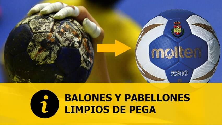 SOLUCIÓN: Balones y pabellones limpios de pega